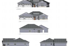 House Plan Design - Ranch Exterior - Other Elevation Plan #1077-9