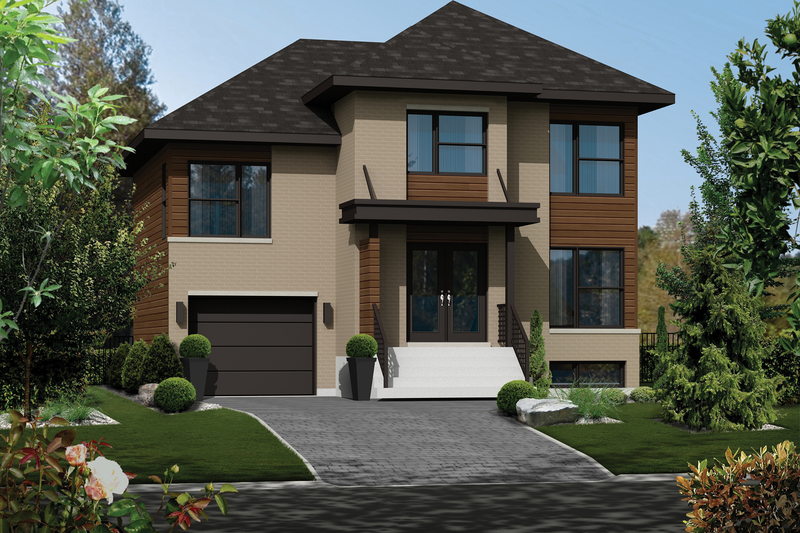 Home Plan - Contemporary Exterior - Front Elevation Plan #25-4285