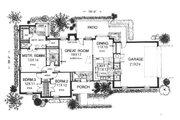 Ranch Style House Plan - 3 Beds 2 Baths 1540 Sq/Ft Plan #310-602 Floor Plan - Main Floor