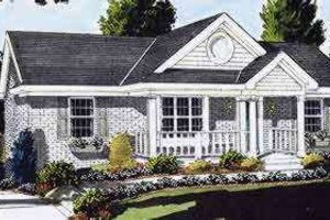Country Exterior - Front Elevation Plan #46-216