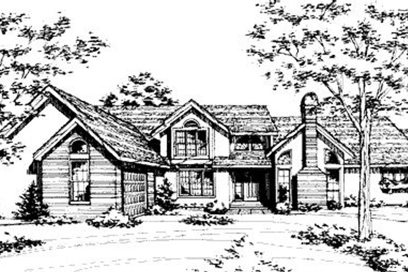 Modern Exterior - Front Elevation Plan #320-425
