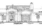 Mediterranean Style House Plan - 3 Beds 2.5 Baths 2573 Sq/Ft Plan #72-151 Exterior - Rear Elevation