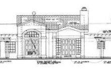 House Design - Mediterranean Exterior - Rear Elevation Plan #72-151