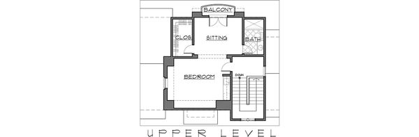 Mediterranean Floor Plan - Upper Floor Plan Plan #892-5