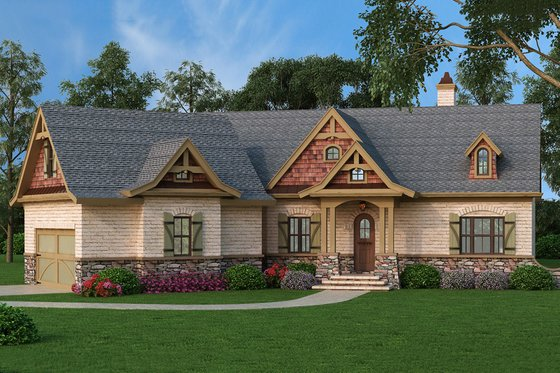 Craftsman Exterior - Front Elevation Plan #119-369