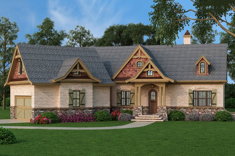 Craftsman Exterior - Front Elevation Plan #119-369 - Houseplans.com