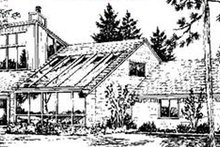 Modern Exterior - Rear Elevation Plan #320-154