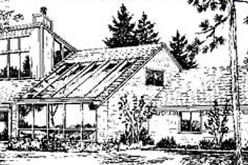 Modern Exterior - Rear Elevation Plan #320-154 - Houseplans.com