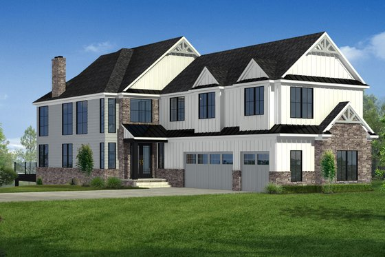Craftsman Exterior - Front Elevation Plan #1057-29