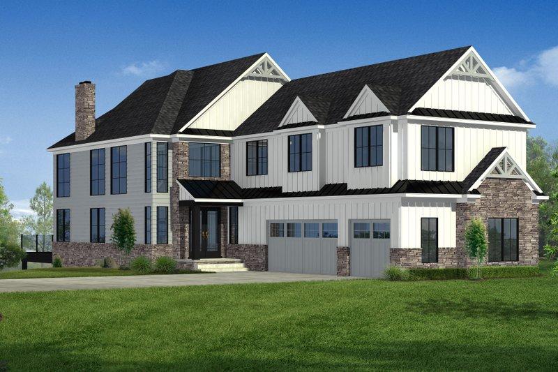 Architectural House Design - Craftsman Exterior - Front Elevation Plan #1057-29