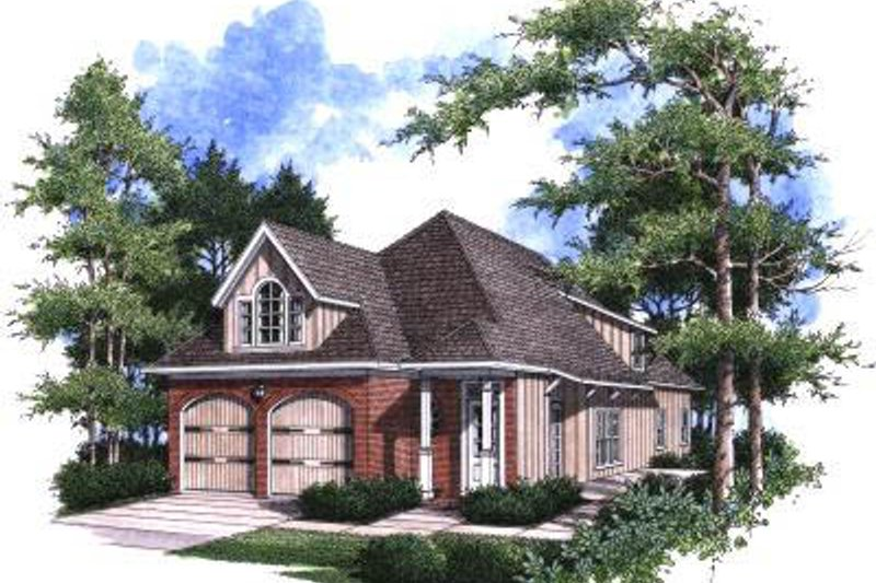 Architectural House Design - Traditional Exterior - Front Elevation Plan #37-170