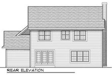 European Exterior - Rear Elevation Plan #70-701