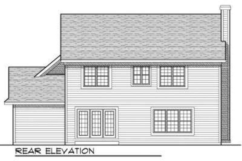European Exterior - Rear Elevation Plan #70-701 - Houseplans.com
