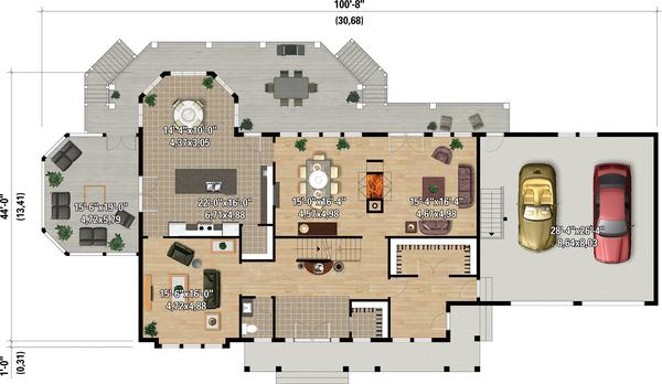 Dream House Plan - Country Floor Plan - Main Floor Plan #25-4883