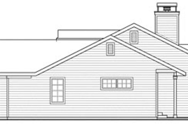 Ranch Exterior - Other Elevation Plan #124-818 - Houseplans.com