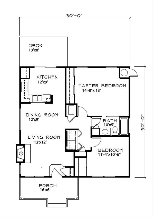 Cottage Floor Plan - Main Floor Plan Plan #515-19