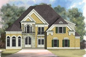 European Exterior - Front Elevation Plan #119-223