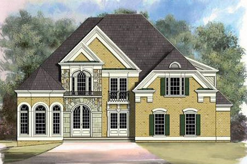 European Style House Plan - 5 Beds 3 Baths 3339 Sq/Ft Plan #119-223 Exterior - Front Elevation
