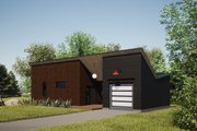 Modern Style House Plan - 1 Beds 1 Baths 550 Sq/Ft Plan #933-12 Exterior - Front Elevation