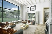 Modern Style House Plan - 3 Beds 2.5 Baths 2116 Sq/Ft Plan #924-4 Interior - Family Room