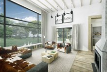 Architectural House Design - Modern Interior - Family Room Plan #924-4