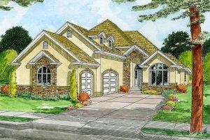House Design - Mediterranean Exterior - Front Elevation Plan #126-148