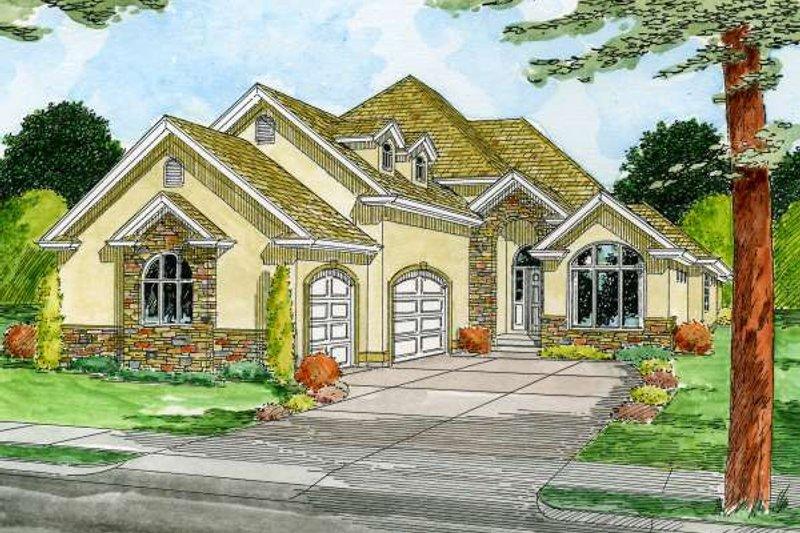 Dream House Plan - Mediterranean Exterior - Front Elevation Plan #126-148
