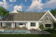 Farmhouse Style House Plan - 3 Beds 2.5 Baths 2483 Sq/Ft Plan #51-1133 Exterior - Rear Elevation