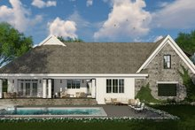 Farmhouse Exterior - Rear Elevation Plan #51-1133