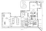 Modern Style House Plan - 2 Beds 2 Baths 3568 Sq/Ft Plan #451-18 Floor Plan - Main Floor Plan