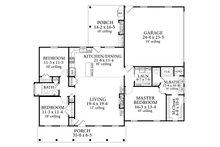 Cottage Floor Plan - Main Floor Plan Plan #406-9662