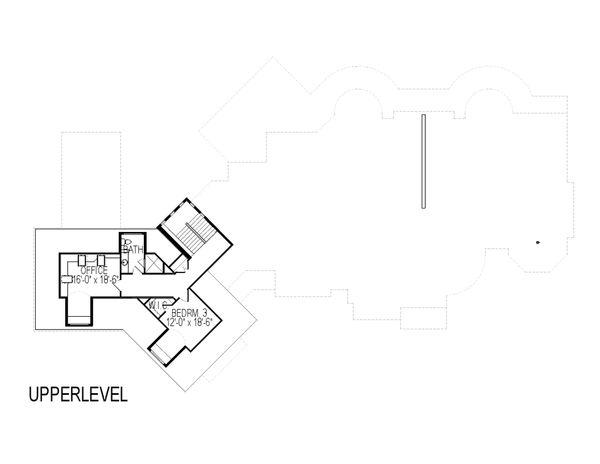 House Plan Design - European Floor Plan - Upper Floor Plan #920-63