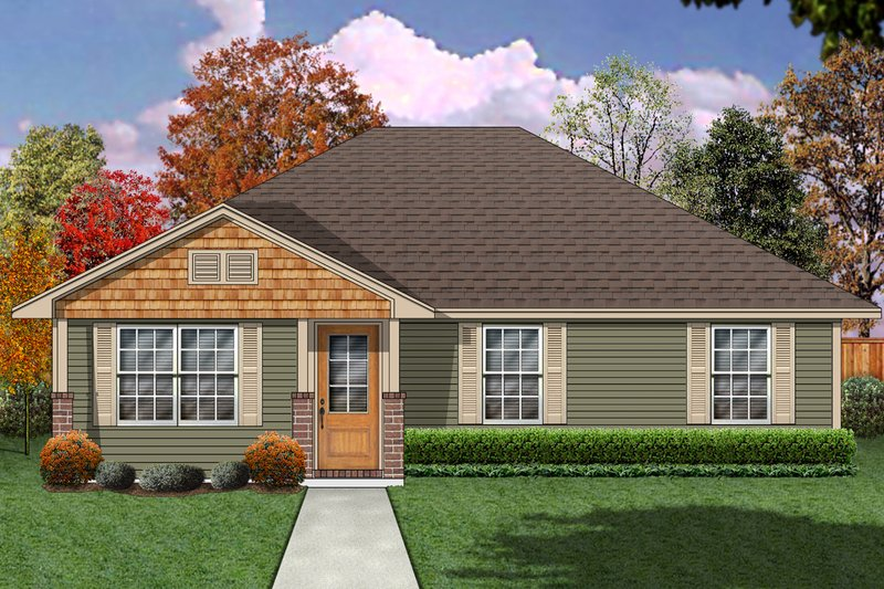 Dream House Plan - Craftsman Exterior - Front Elevation Plan #84-582