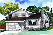 Traditional Style House Plan - 3 Beds 2.5 Baths 1581 Sq/Ft Plan #47-628