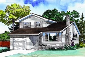 Traditional Exterior - Front Elevation Plan #47-628