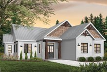 Home Plan - Ranch Exterior - Front Elevation Plan #23-2657