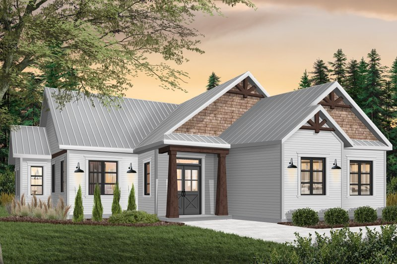 Ranch Style House Plan - 3 Beds 1.5 Baths 1525 Sq/Ft Plan #23-2657