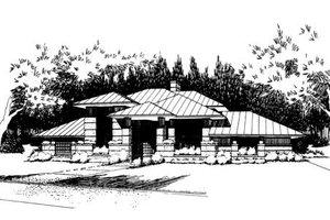 Prairie Exterior - Front Elevation Plan #120-109
