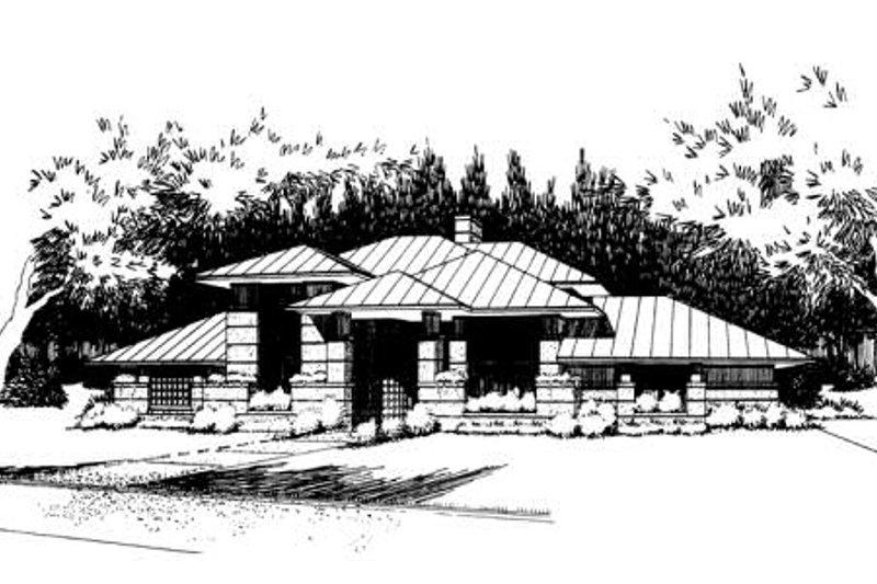 Prairie Exterior - Front Elevation Plan #120-109 - Houseplans.com