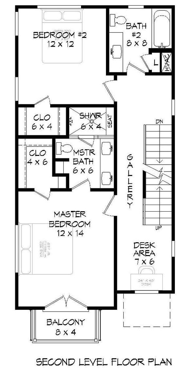 House Plan Design - Contemporary Floor Plan - Upper Floor Plan #932-243