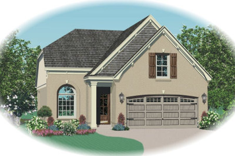 Traditional Style House Plan - 3 Beds 2.5 Baths 1585 Sq/Ft Plan #81-13618 Exterior - Front Elevation