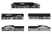 Architectural House Design - Farmhouse Exterior - Other Elevation Plan #1077-3