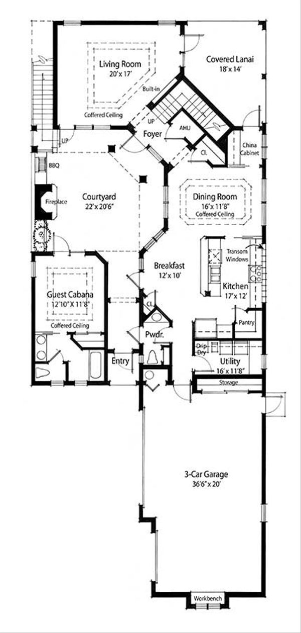 Country Floor Plan - Main Floor Plan Plan #938-15