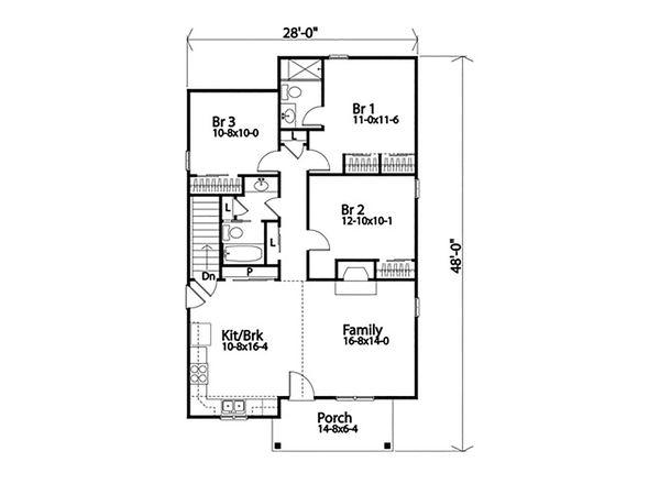 Dream House Plan - Ranch Floor Plan - Main Floor Plan #22-615