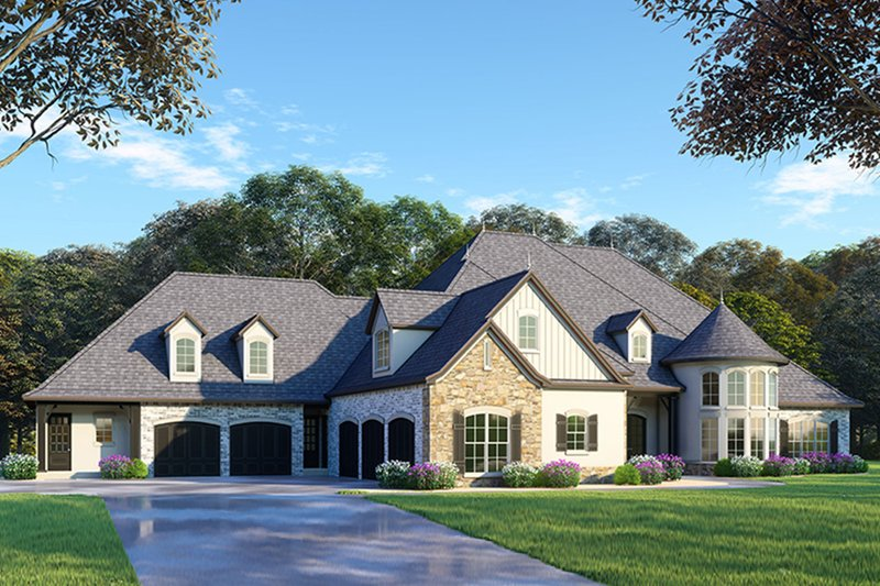 Home Plan - European Exterior - Front Elevation Plan #923-87