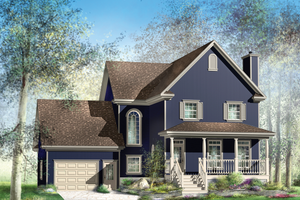Country Exterior - Front Elevation Plan #25-4468