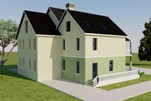 Architectural House Design - Left Rear