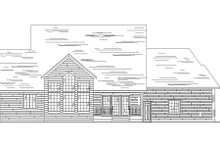 House Plan Design - Country Exterior - Rear Elevation Plan #5-181