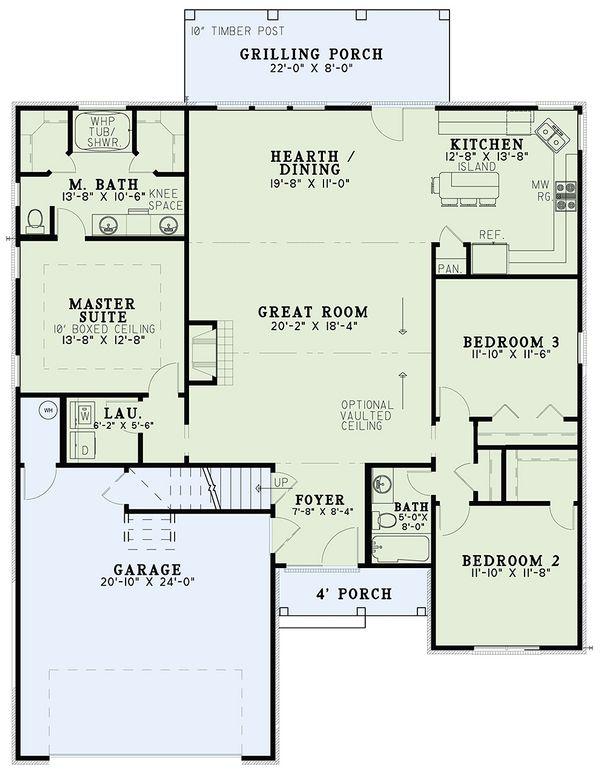 European Floor Plan - Main Floor Plan Plan #17-2483