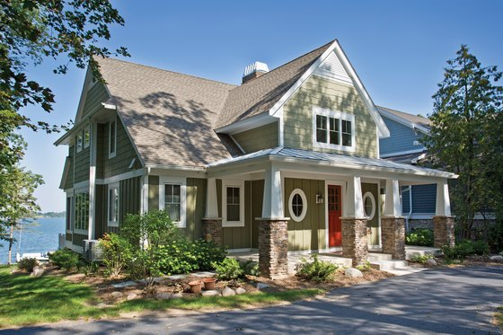 Home Plan - Country Exterior - Front Elevation Plan #928-4